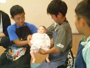 赤ちゃんとのふれあい体験